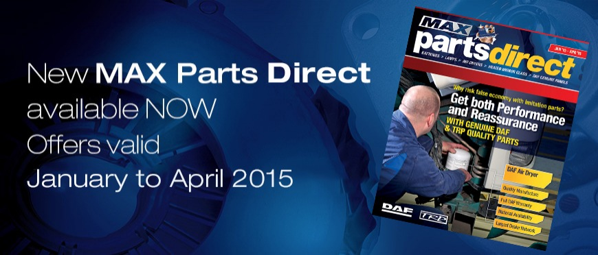 New MAX Parts Direct available now Jan - Apr 2015