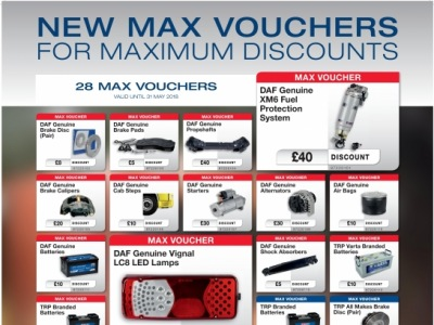 New Max Card Parts Discounts Available 1st February to 31st May 2018