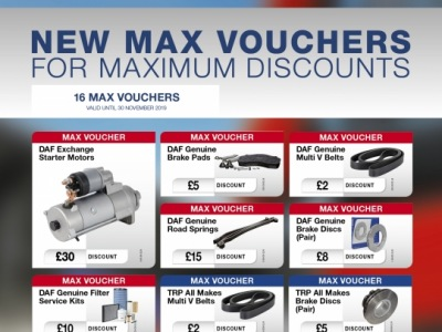New Max Card Parts Discounts Available 1st August to November 2019