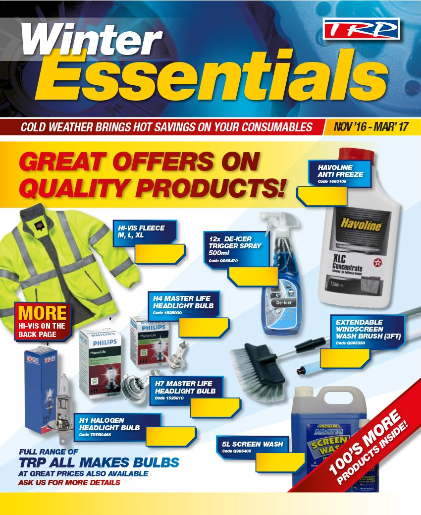 TRP Winter Essentials Offers November 16 - March 17